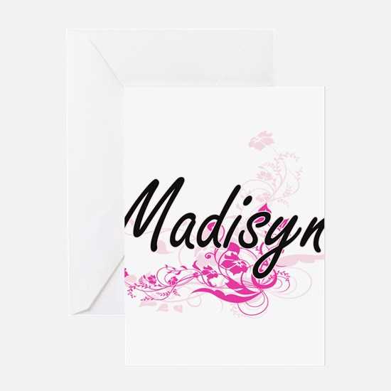 Madisyn Artistic Name Design with F Greeting Cards