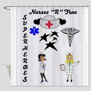 Nurses Are Superheroes Shower Curtain
