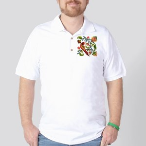 Jacobean Embroidery Golf Shirt