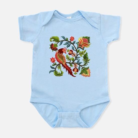 Jacobean Embroidery Infant Bodysuit