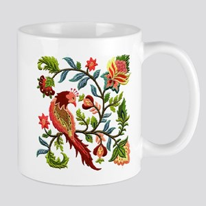 Jacobean Embroidery Mug