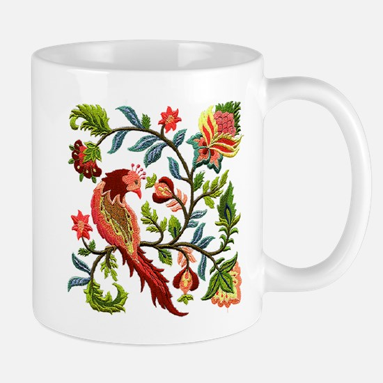 Jacobean Embroidery Mug