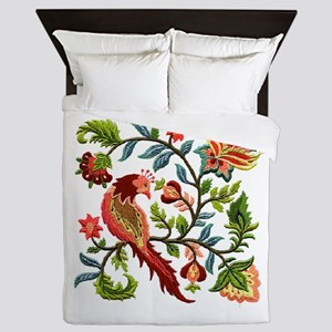 Jacobean Embroidery Queen Duvet