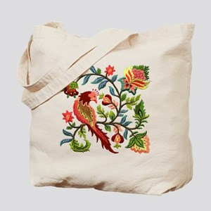 Jacobean Embroidery Tote Bag