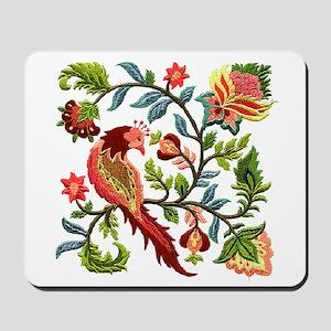 Jacobean Embroidery Mousepad