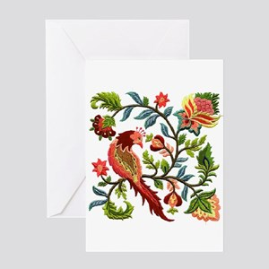 Jacobean Embroidery Greeting Card