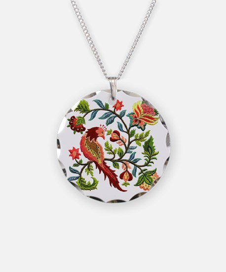 Jacobean Embroidery Necklace