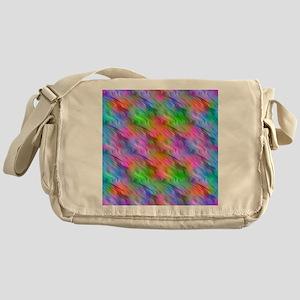 Colorful Wavy Pattern Messenger Bag