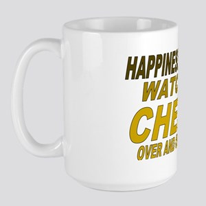 Happiness is Watching Cheers Large Mug