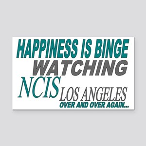 Happiness is Watching NCIS LA Rectangle Car Magnet