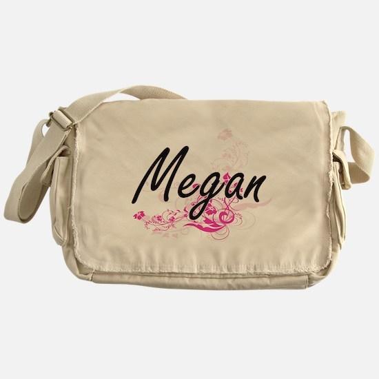 Megan Artistic Name Design with Flow Messenger Bag