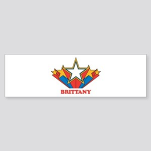 BRITTANY superstar Bumper Sticker