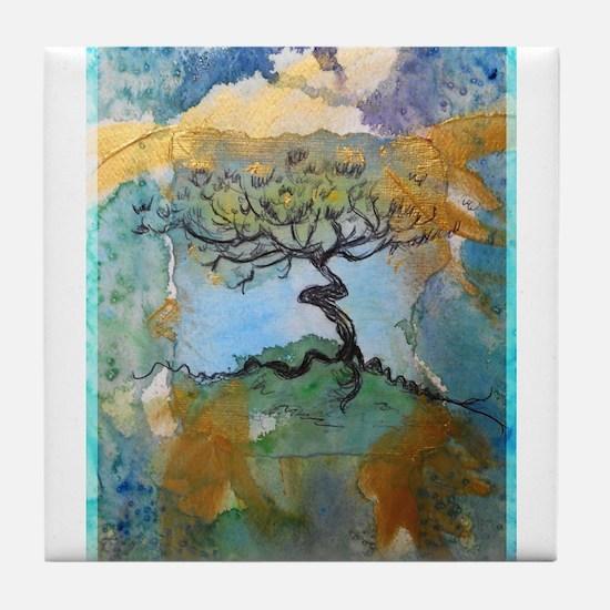 tree ! tree of life, art! Tile Coaster