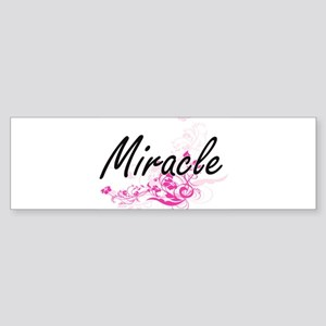 Miracle Artistic Name Design with F Bumper Sticker