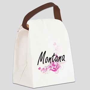 Montana Artistic Name Design with Canvas Lunch Bag