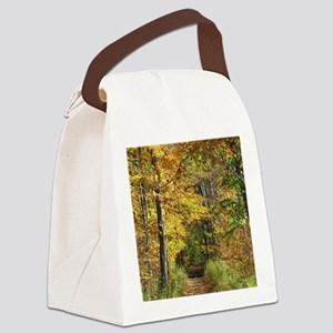 Autumn Trail Scenery Canvas Lunch Bag