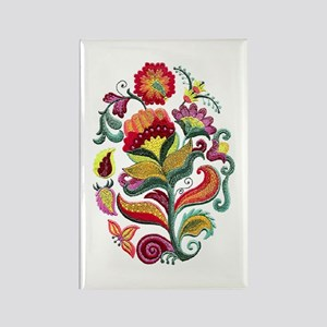 Jacobean Flowers Rectangle Magnet