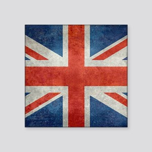 "UK British Union Jack  flag Square Sticker 3"" x 3"""