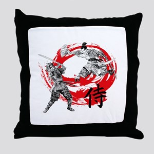 Samurai Warriors Throw Pillow