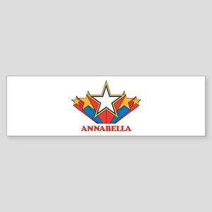 ANNABELLA superstar Bumper Sticker