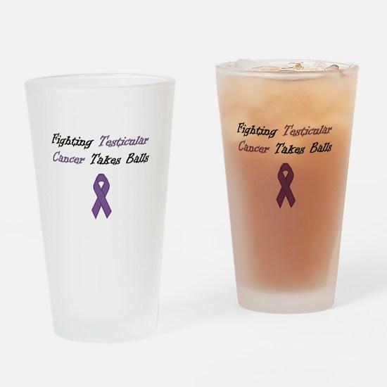 Testicular Cancer Awareness Drinking Glass