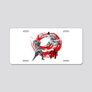 Samurai Warriors Aluminum License Plate