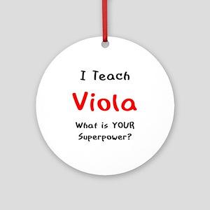 teach viola Round Ornament