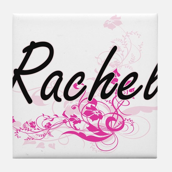 Rachel Artistic Name Design with Flow Tile Coaster