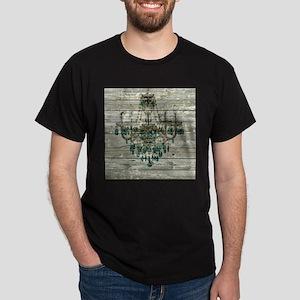 Rustic barn wood chandelier T-Shirt
