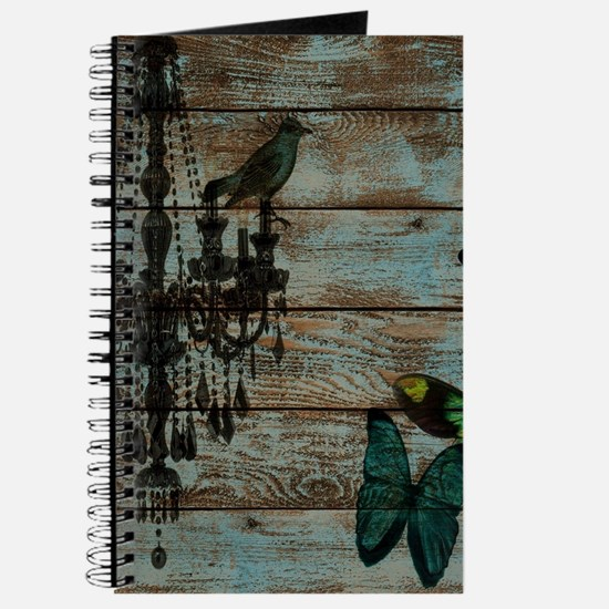 Teal butterfly vintage chandelier Journal