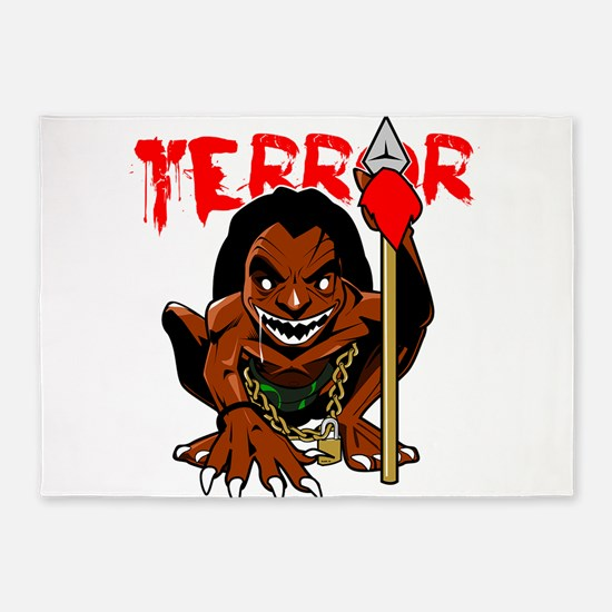 Terror 5'x7'Area Rug