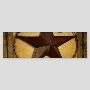 primitive texas lone star cowboy Bumper Sticker