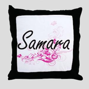 Samara Artistic Name Design with Flow Throw Pillow