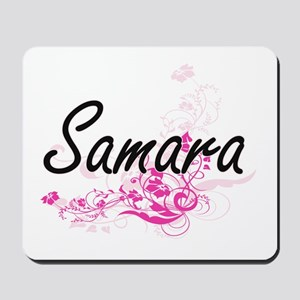 Samara Artistic Name Design with Flowers Mousepad