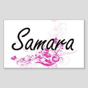 Samara Artistic Name Design with Flowers Sticker