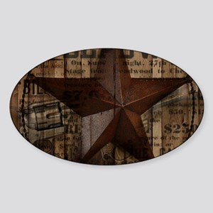 primitive texas lone star Sticker