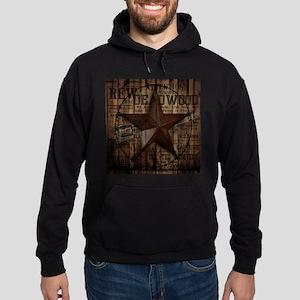 primitive texas lone star cowboy Hoodie (dark)