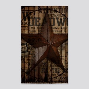 primitive texas lone star cowboy Area Rug