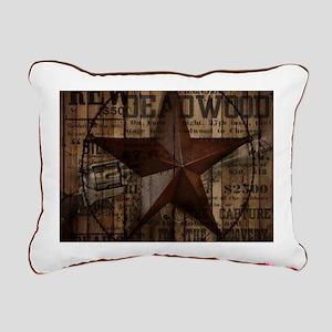 primitive texas lone st Rectangular Canvas Pillow
