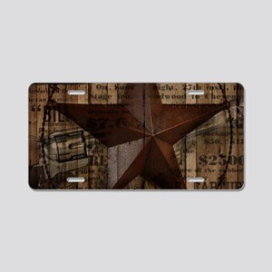 primitive texas lone star Aluminum License Plate
