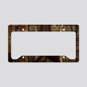 primitive texas lone star co License Plate Holder