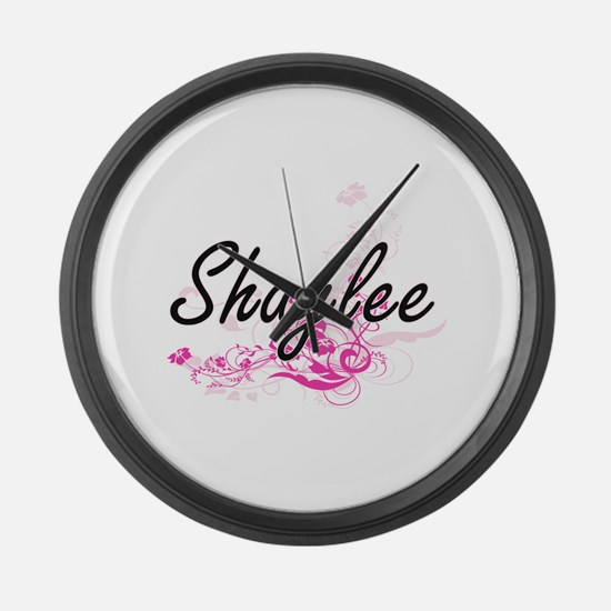 Shaylee Artistic Name Design with Large Wall Clock