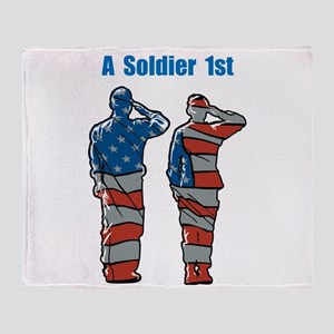A Soldier 1st Throw Blanket