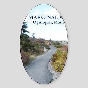 Ogunquit Marginal Way walkway Sticker (Oval)