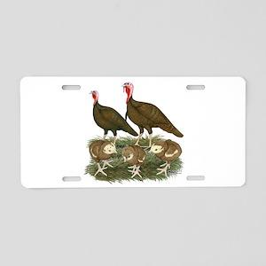 Turkeys Chocolate Family Aluminum License Plate