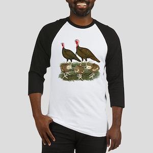 Turkeys Chocolate Family Baseball Jersey