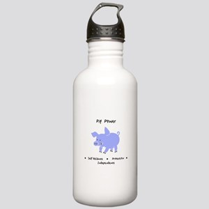 Purple Pig Totem Power Gifts Water Bottle