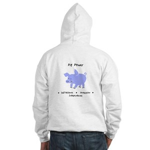Purple Pig Totem Power Gifts Hoodie