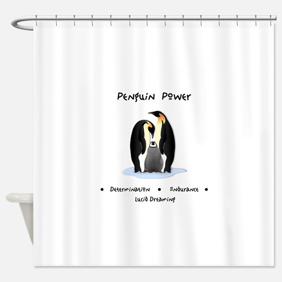 Penguin Power Animal Gifts Shower Curtain