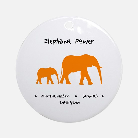 Elephant Totem Power Gifts Round Ornament